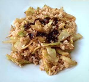 Fat-free broccoli and onion stir-fry